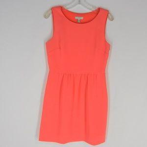 J.CREW Camille Dress 4 S Sleeveless Neon Pink Cora